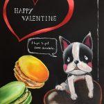 2/11「カフェやバーで人気の黒板ボードを自分で書いちゃおう!」バレンタインVer.講座