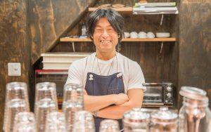 山崎さん@市場カフェ