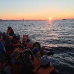 2018年の夜明け、船橋港からクルーザーで初日の出クルージングに参加